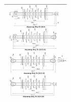 ЛКЦ-70-150-5 Линейный полимерный стержневой кремнийорганический изолятор