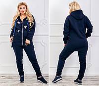 Женский теплый спортивный костюм кофта на молнии и штаны трехнить на флисе размер:от 50 до 62 РАСПРОДАЖА!