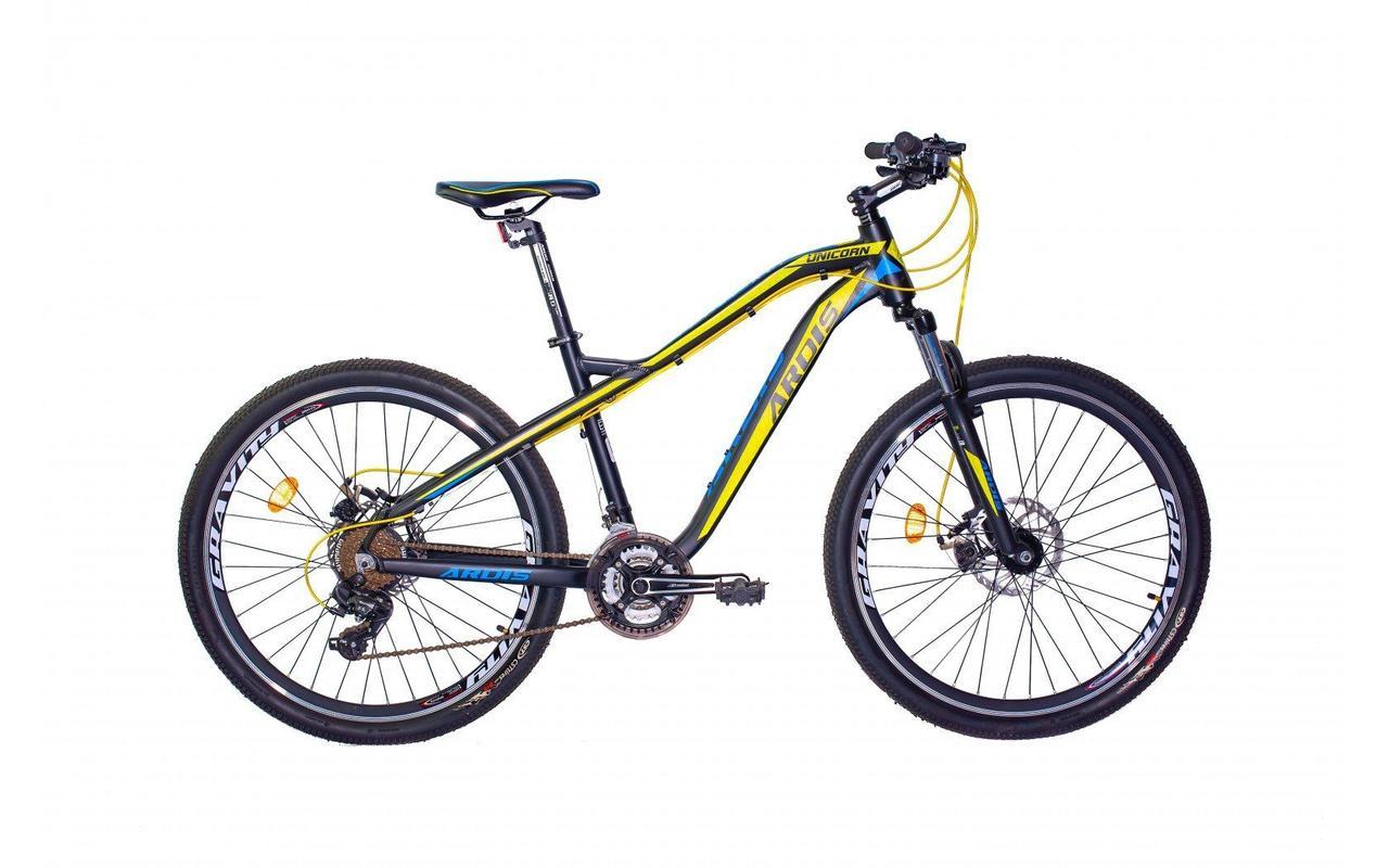 """Велосипед Ardis UNICORN 27.5"""" Колесо 17.5"""" рама (Сірий з жовтим)"""