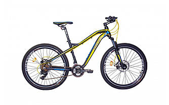 "Велосипед  Ardis UNICORN 27.5"" Колесо 17.5"" рама  (Серый с желтым)"