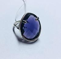 Круглый серебряный комплект с фиолетовым камнем Мишель