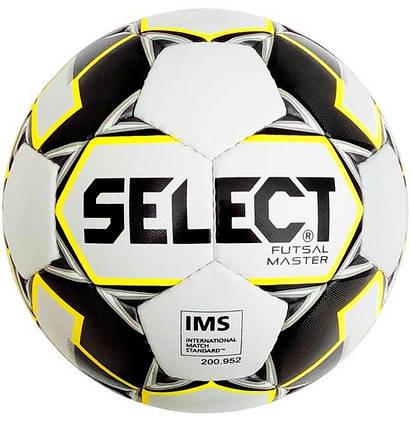 Мяч футзальный Select Master IMS Белый Размер 4 (5703543186990), фото 2