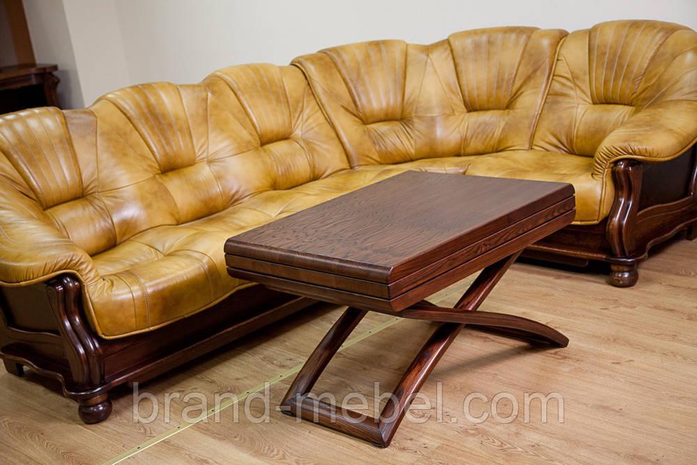 Стіл трансформер журнально-обідній дерев'яний Бігус/Стол раскладной журнально-обеденный  Бигус