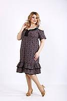 Платье с юбкой и принтом | 01126-1 GARRY-STAR