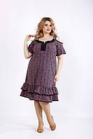 Платье с коралловым принтом | 01126-2 GARRY-STAR