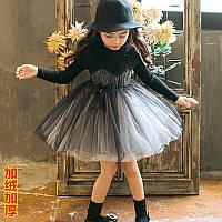 Дуже круте і оригінальне плаття. На короткому меху  р. 100 см детская девочка