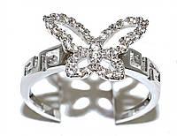 Кольцо фирмы Xuping.Цвет: серебряный. Камни: белый  циркон. Ширина: 10 мм. Есть 17 р. 18 р. 19 р. 20р 19