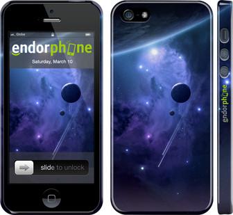 Чехол на iPhone 5 Планеты в синем космосе