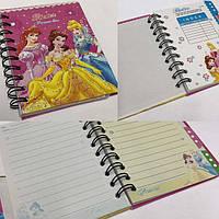 """Блокнот на спирали (A6) B290-(01/02/03/04) """"Princess"""" с закладками, фото 1"""