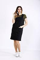 Черный джинсовый сарафан | 01128-2 GARRY-STAR