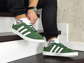 Мужские зеленые кроссовки искусственная замша, фото 2