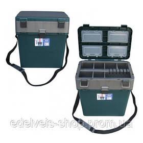 Ящик-М зимний рыболовный ТОНАР HELIOS  морозостойкий -40град , 19л нагрузка до 210кг.Оригинал100%