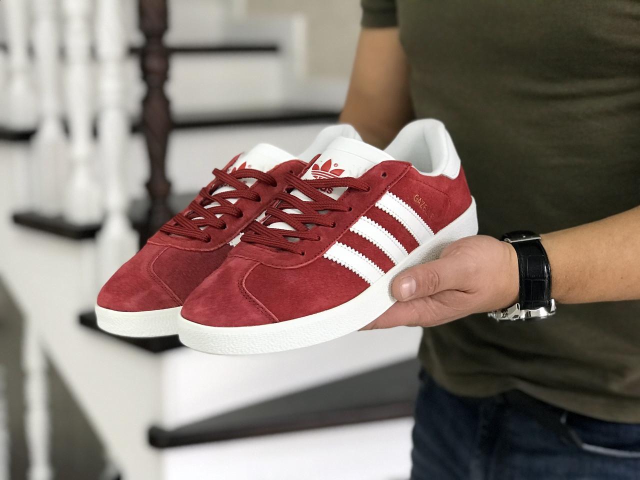 Мужские красные кроссовки искусственная замша