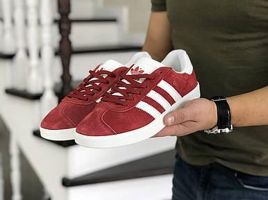 Мужские красные кроссовки искусственная замша 44
