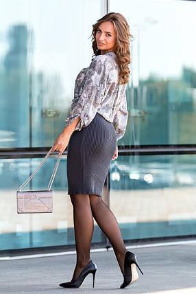 Вязаная юбка «Миледи» миди (графит), фото 2
