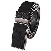 Ремень мужской замшевый JK-3540 Black (3,5 см)