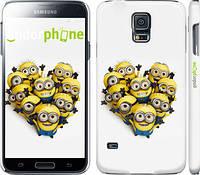 "Чехол на Samsung Galaxy S5 g900h Миньоны 4 ""301c-24"""