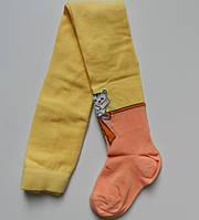 Колготки демисезонные с рисунком, 86-92 см (цвет жёлтый)