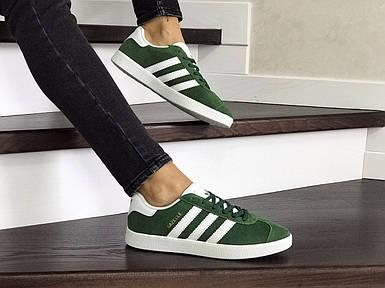Женские кроссовки эко замша зеленые