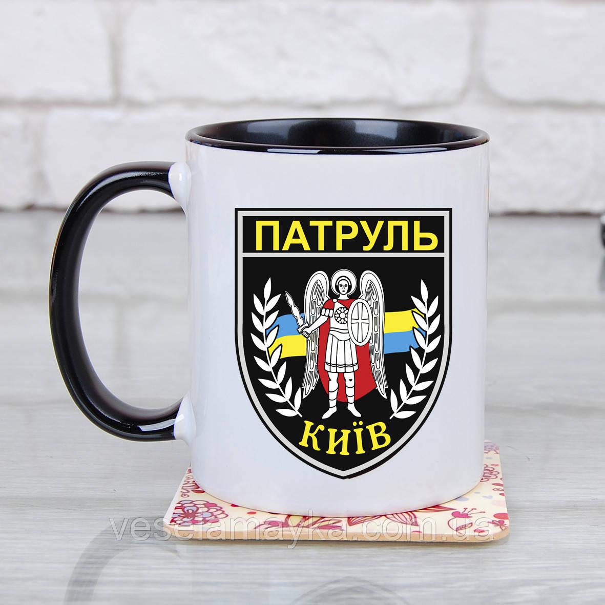 Чашка Шеврон полиции (Патруль Киев)
