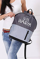 Городской рюкзак унисекс WARM (темно-серый - светло-серый)