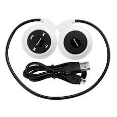 Беспроводная гарнитура 3в1 bluetooth-наушники, MP3-плеер, FM радио (белый), фото 2