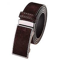 Ремень мужской замшевый JK-3540 Brown (3,5 см)