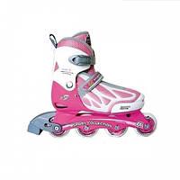 Роликовые коньки Спортивная коллекция Dream New Pink р. 31-34