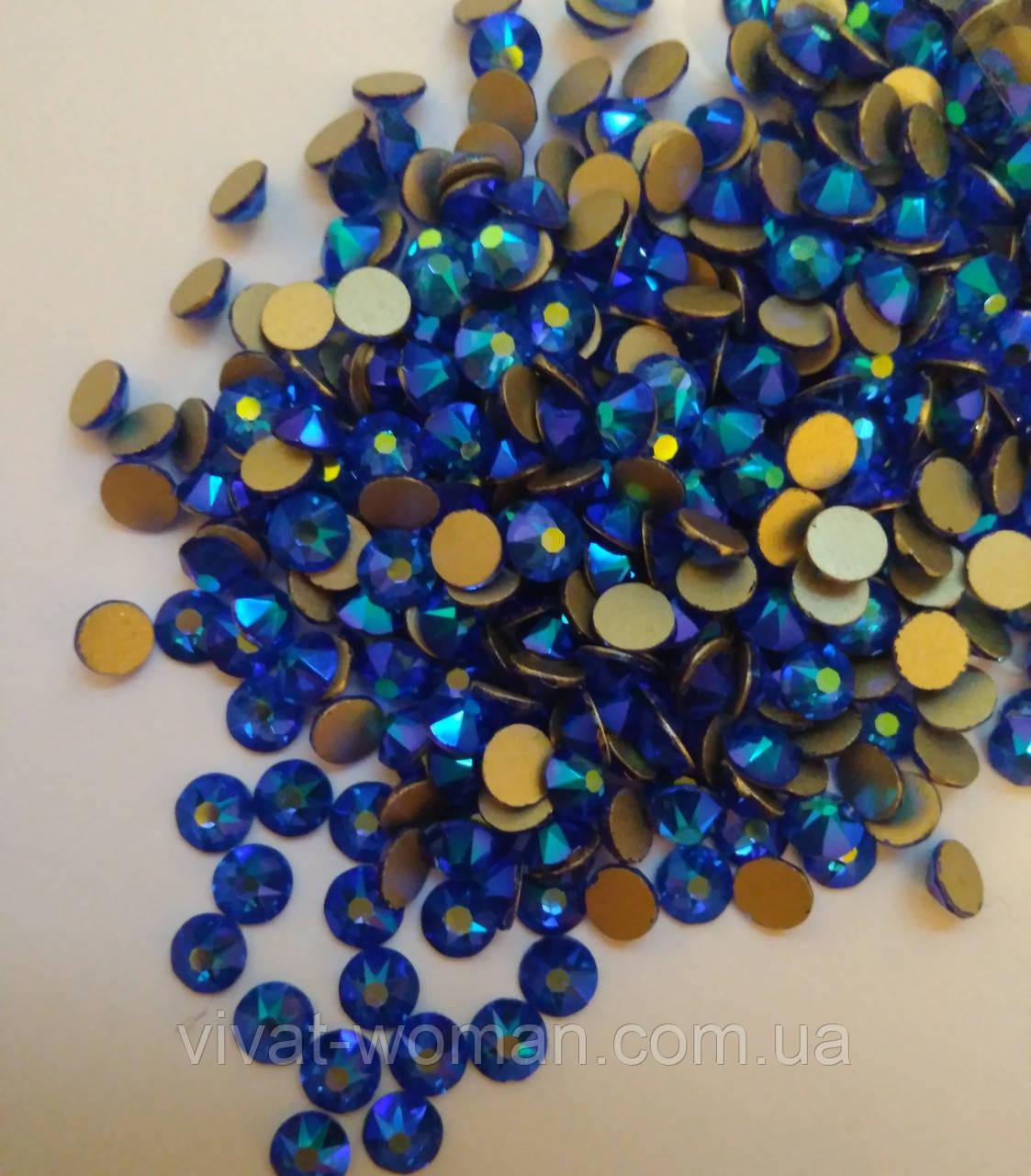 Стразы холодной фиксации Xirius SS20 (5,0 мм) Sapphire AB, 16 граней. Цена за 144 шт