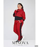 Трикотажный спортивный костюм женский Двунитка Размер 50 52 54 56 58 60 В наличии 3 цвета, фото 1