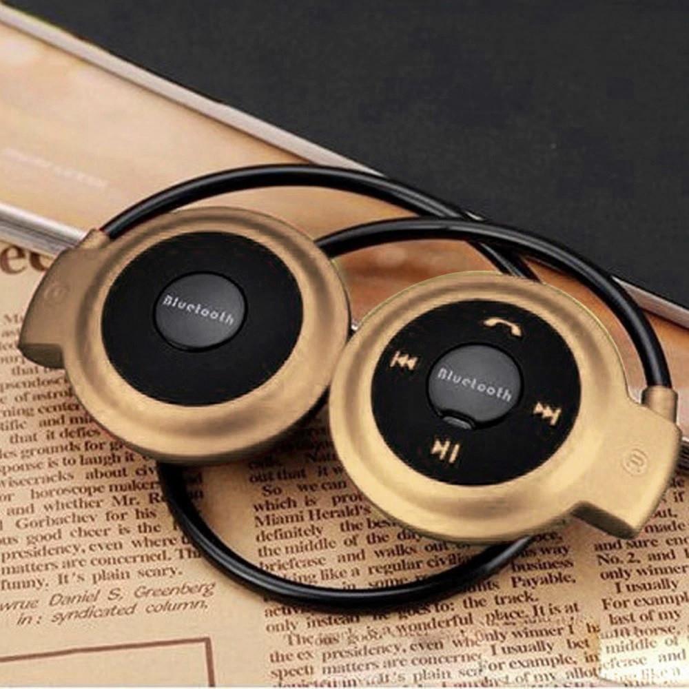 Беспроводная гарнитура 3в1 bluetooth-наушники, MP3-плеер, FM радио (золотистый)