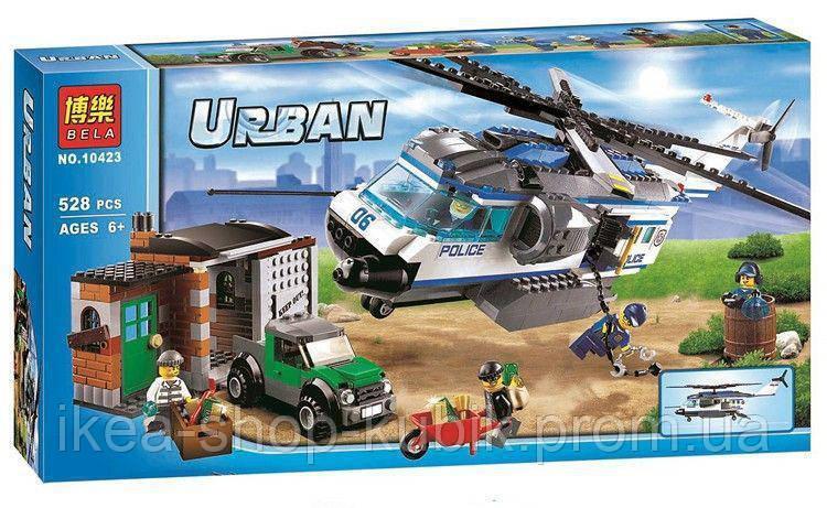 """Конструктор Bela Urban 10423 """"Вертолетный патруль"""" 528 детали"""