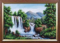 Набор для вышивки бисером Водопад в горах МК Б-125