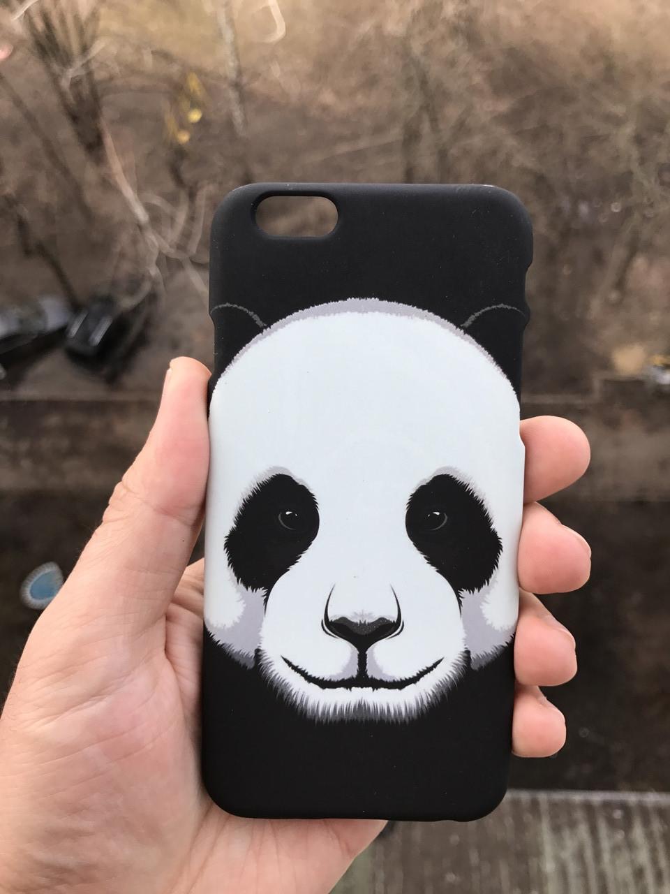 Чехол животное iphone 6/6s + защитное стекло на экран в подарок