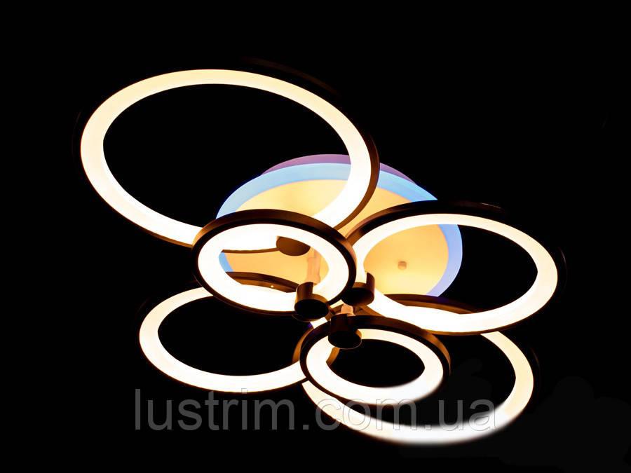 Светодиодная LED люстра с диммером и подсветкой,130W