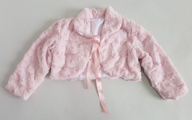 картинка болеро меховое детское розового цвета