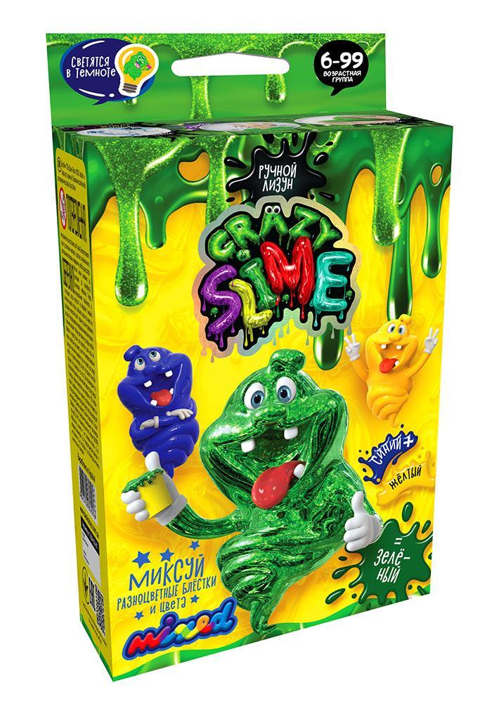 Ручной лизун Crazy Slime Mini Зеленый (SLM-02-01)