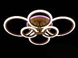 Светодиодная LED-люстра с диммером и подсветкой, 130W, фото 2