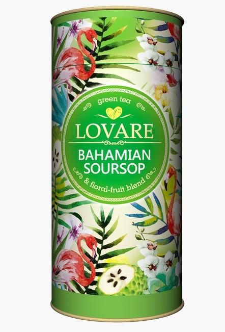 Чай Lovare Bahamian Soursop з саусепом зелений листовий 80 грам в подарунковій упаковці