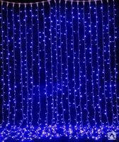 """Новогодняя гирлянда  LED занавес """"дождь""""  2х2 метра белая цветная"""