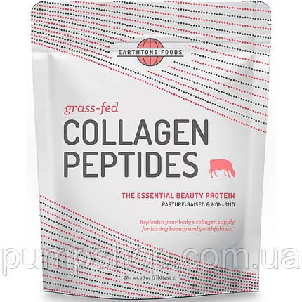 Колагенові пептиди Earthtone Foods Grass-Fed Collagen Peptides Unflavored 454 г, фото 2