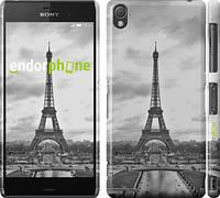 """Чехол на Sony Xperia Z3 D6603 Чёрно-белая Эйфелева башня """"842c-58"""""""