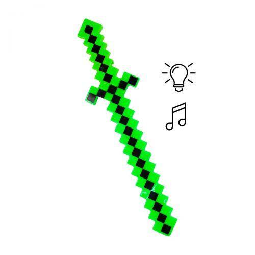 """Меч """"Майнкрафт"""" свет, звук (зеленый)  sco"""