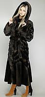 Женская длинная шуба из эко-меха под норку рр 44-58