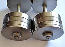 Гантели 2 по 30 кг разборные стальные D 25 мм. Сталеві гантелі, фото 3