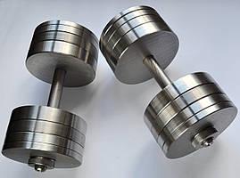 Гантели 2 по 30 кг разборные стальные D 25 мм. Сталеві гантелі