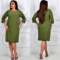 Платье классика арт 792 зеленый хаки / зеленого цвета хаки