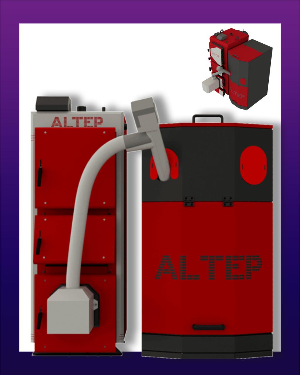 Altep Trio Uni Pellet Plus (КТ-3ЕPG) 80 кВт (горелка+шамот)