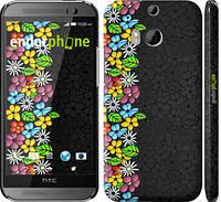 "Чехол на HTC One M8 цветочный орнамент ""2390c-30"""