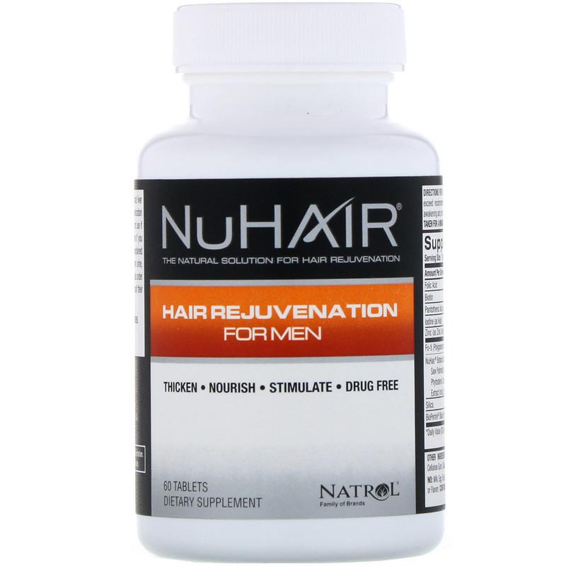 Восстановление волос для мужчин, Natrol, NuHair, 60 таблеток